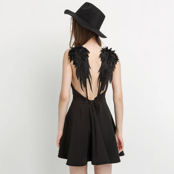 Chicloth As If I have Wings Mini Dress