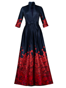 Chicloth Color Block Floral Print Women's Maxi Dress