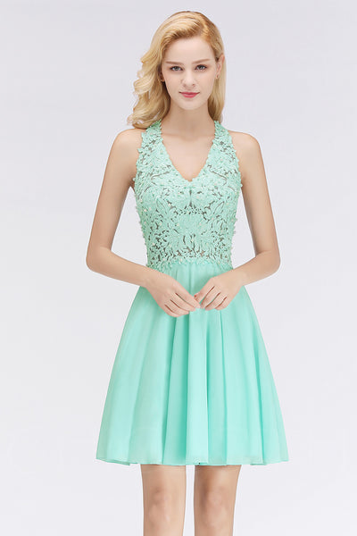 AA| Chicloth Women's Solid Lace Cocktail Party Dress-party dresses-Chicloth