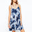 Chicloth V-neck Blue Floral Slip Dress-Chicloth