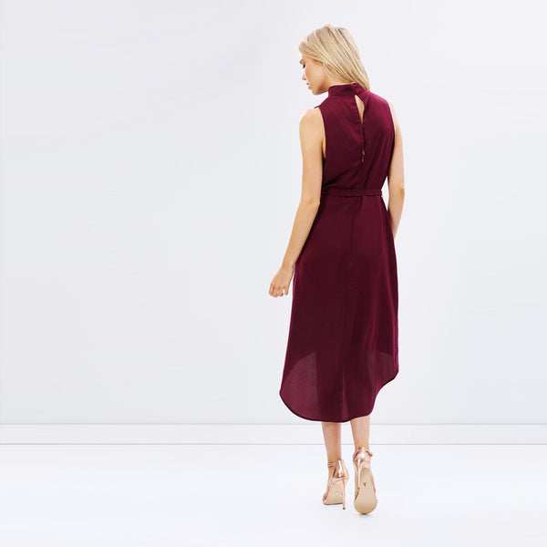 Chicloth Burgundy High Low Dress - Chicloth