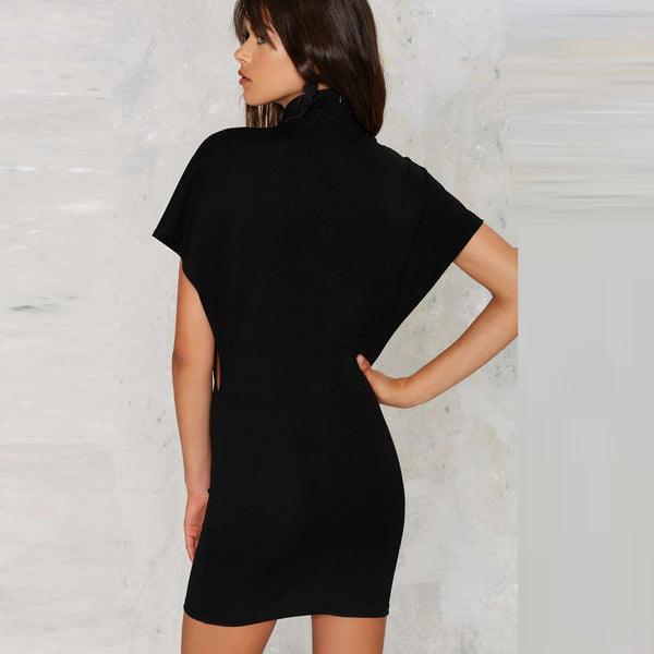 Chicloth Black Short Sleeve Fashion Bodycon Dress