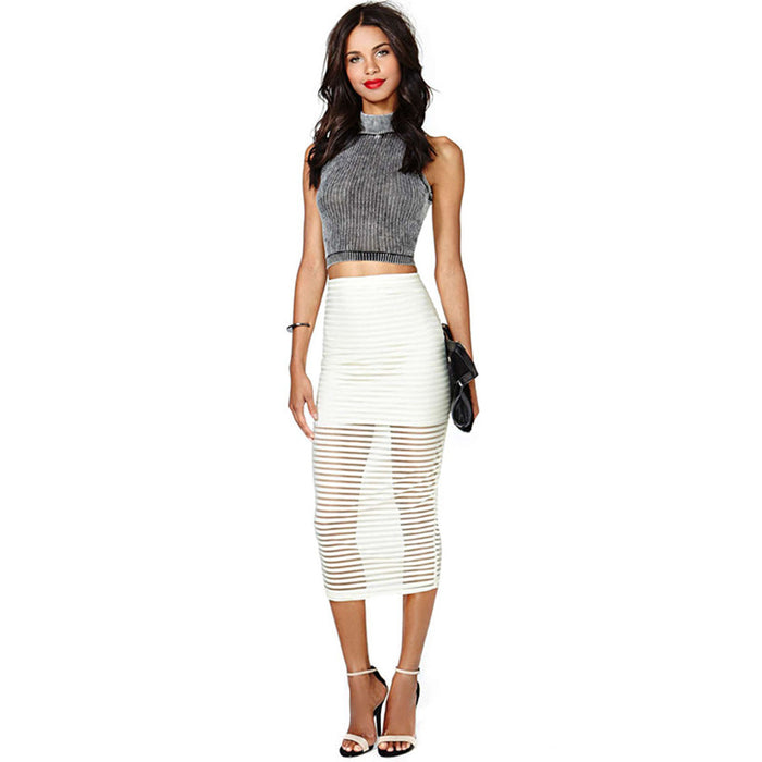 Chicloth White Tulle Skirt-Chicloth