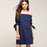 Chicloth Off The Shoulder Blue Dress-Chicloth