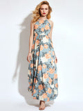 Chicloth Sleeveless Floral Print Dress