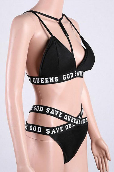 Chicloth Breathe Black Cut-out Bikini Set - Chicloth