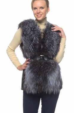 Chicloth Imitation Fur vest top European and American Leather Jacket