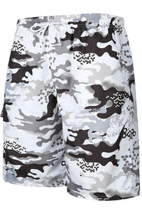 A| Chicloth Camouflage Print Mens Beach Borad Swim Shorts