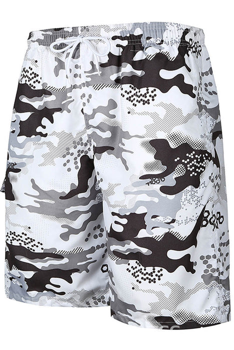 A| Chicloth Camouflage Print Mens Beach Borad Swim Shorts-Chicloth
