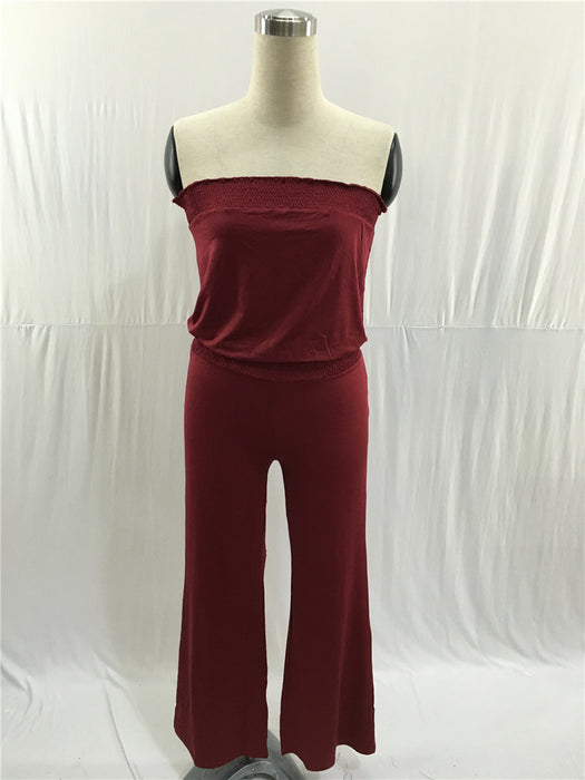 B| Chicloth White Spandex Casual Jumpsuits Large Horn Jumpsuits-Jumpsuits-Chicloth