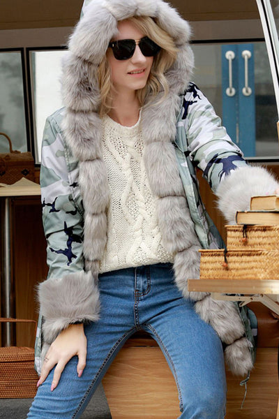 A| Chicloth Long Hooded Printed Winter Warm Faux Fur Coats-Faux Fur Coats-Chicloth