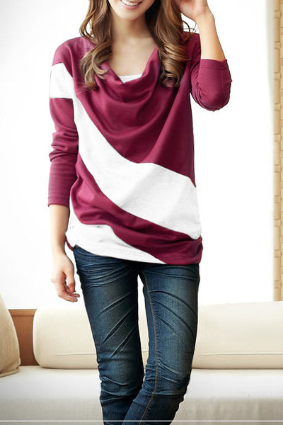 A| Chicloth Korean Style Split Joint Bat Sleeve T-Shirt