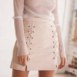 Chicloth Mid Waist String Bodycon Skirt