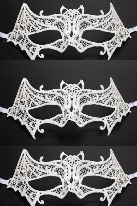 Chicloth Bat Lace Dance Party Makeup Halloween Mask