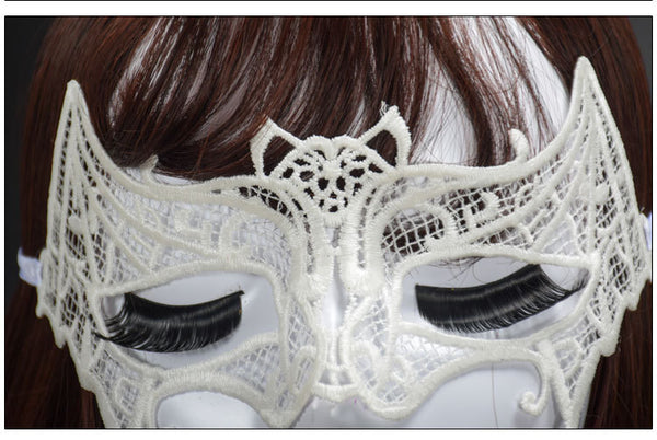 Chicloth Bat Lace Dance Party Makeup Halloween Mask - Chicloth