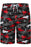 A| Chicloth Camouflage Shark Print Mens Beach Board Swim Shorts-Chicloth