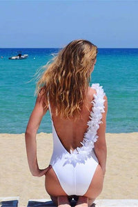 B| Chicloth As If I had wings One-piece Swimsuit-swimwear-Chicloth