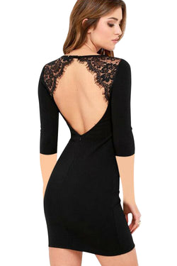 Chicloth Burn in My Blood Open Back Pencil Dress