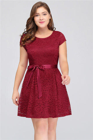 A| Chicloth A Line Mini Short Party Dress Plus Size Dresses