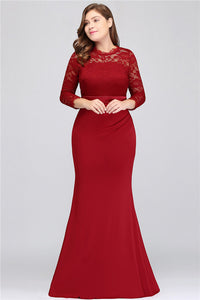 A| Chicloth Bride Dress Women Long Formal Party Elegant Dresses Plus Size Dresses-Plus size dresses-Chicloth