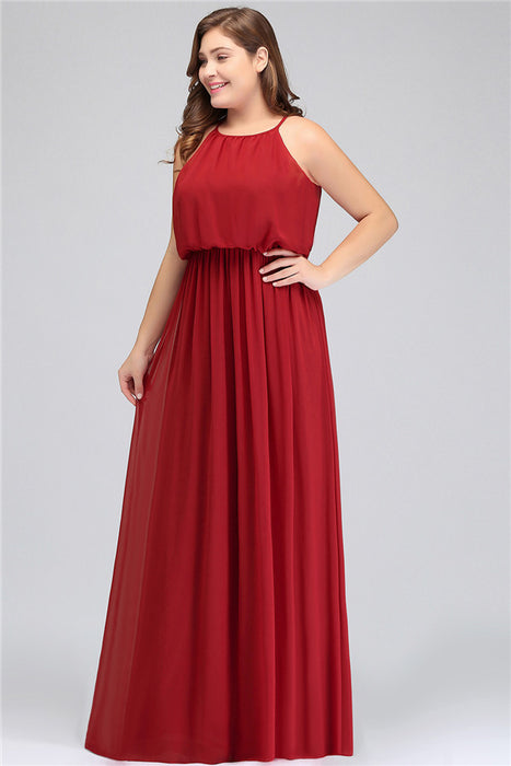 A| Chicloth Burgundy Special Occasion Long Evening Gown Party ...