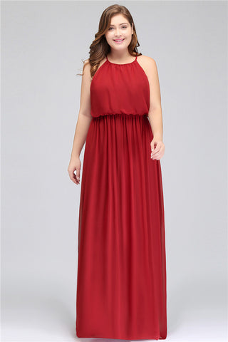 A| Chicloth Burgundy Special Occasion Long Evening Gown Party Dresses Plus Size Dresses