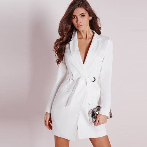 Chicloth Simple Elegance White Jacket-Chicloth