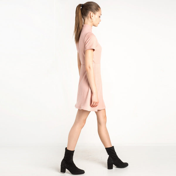 Chicloth Pink One shoulder Mini Dress