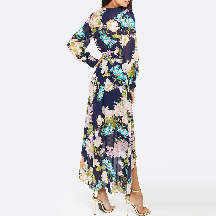 Chicloth High Low Floral Maxi Dress-Chicloth