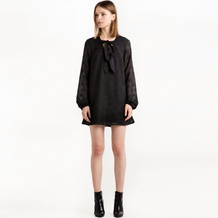 Chicloth Black Lace Mini Dress-Chicloth