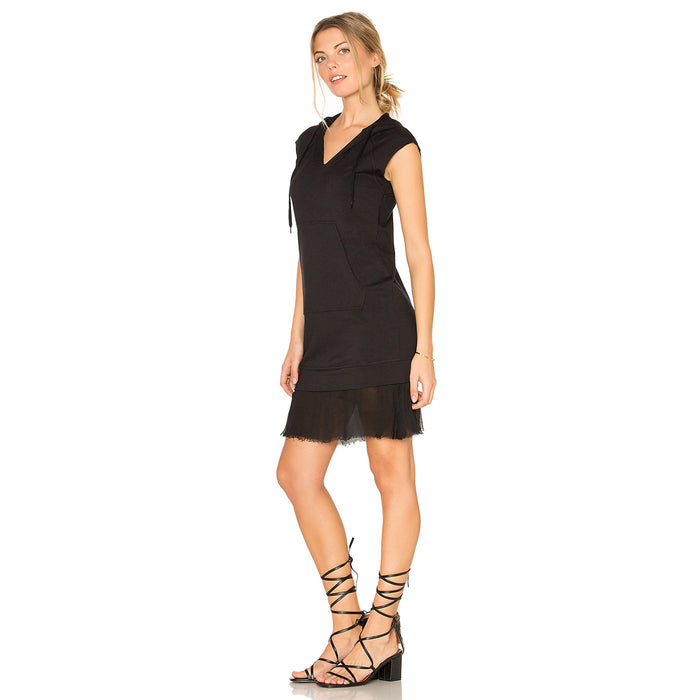 Chicloth Plunge V-Neck Black Dress-Chicloth