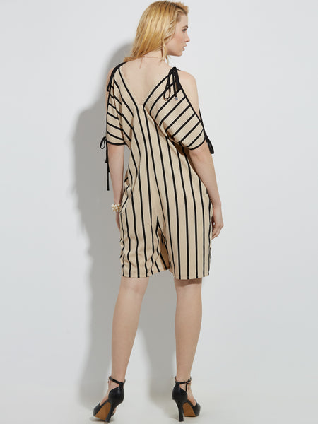 Chicloth Black and white stripes Sleeveless