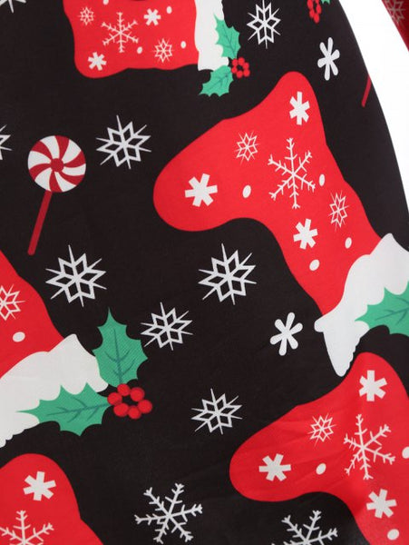 Chicloth 2018 Socks Snowflake Graphic Christmas Christmas Fashions-Christmas Fashions-Chicloth
