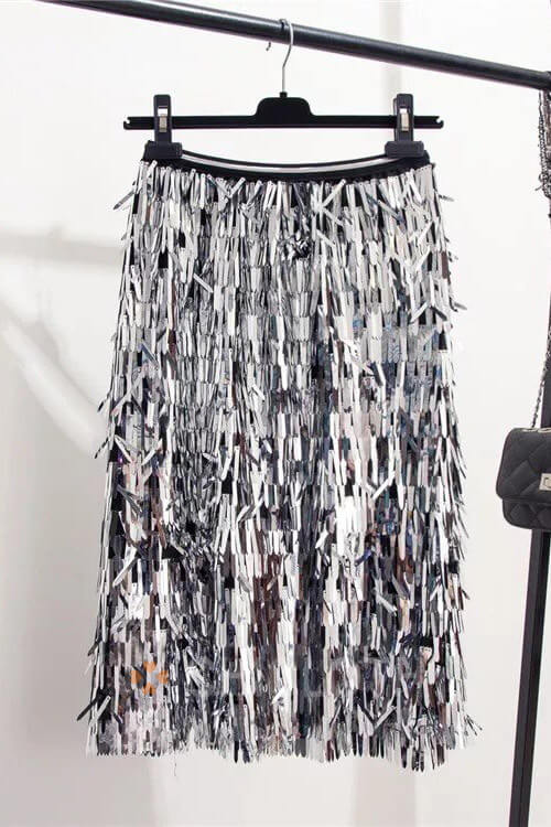 Chicloth Sequins Skirts Fashion Beading Skirts