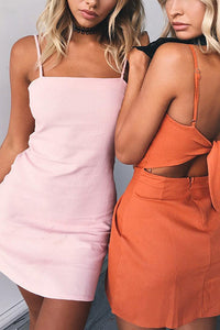 A| Chicloth New Women A-Line Sexy Variety Color Beach Wear Backless Mini Dresses - Chicloth