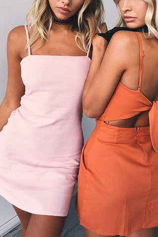 A| Chicloth New Women A-Line Sexy Variety Color Beach Wear Backless Mini Dresses-Chicloth