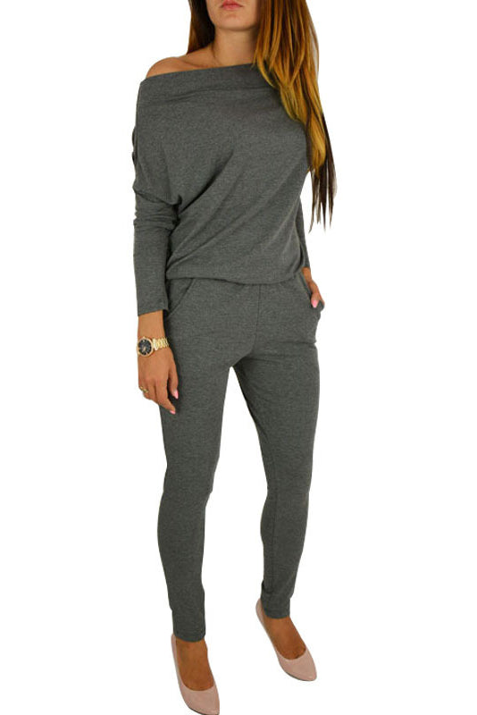 A| Chicloth Long Sleeves Overalls For Women Rompers Jumpsuits-Jumpsuits-Chicloth
