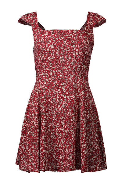 A| Chicloth Fashion Sweet Lingering Splash Print Dress-Chicloth