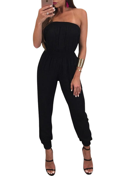Chicloth Casual Solid Sleeveless Jumpsuit-Chicloth