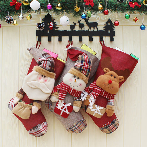 C| Chicloth Small Xmas Stockings for Kids-Christmas Accessories-Chicloth