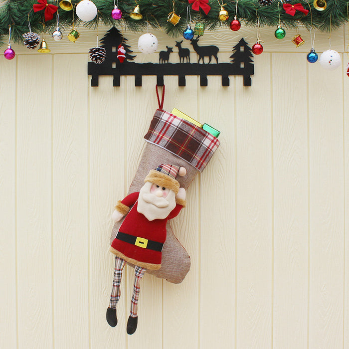 C| Chicloth Christmas Stockings Santa Clause Snowman-Christmas Accessories-Chicloth
