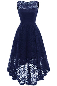 AA| Chicloth Women Floral Lace Bridesmaid Party Dress Short Prom Dress V Neck(In Stock)-Chicloth