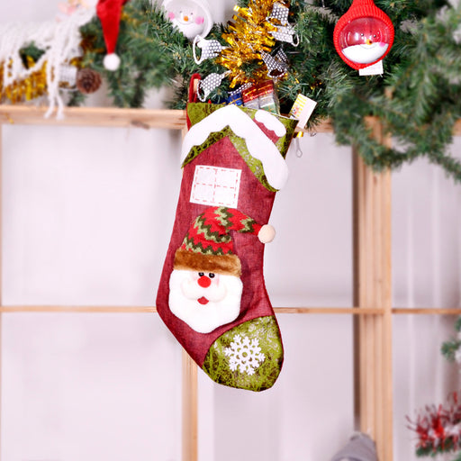 C| Chicloth Christmas Decorations Christmas Stockings (2 Pics)-Christmas Accessories-Chicloth