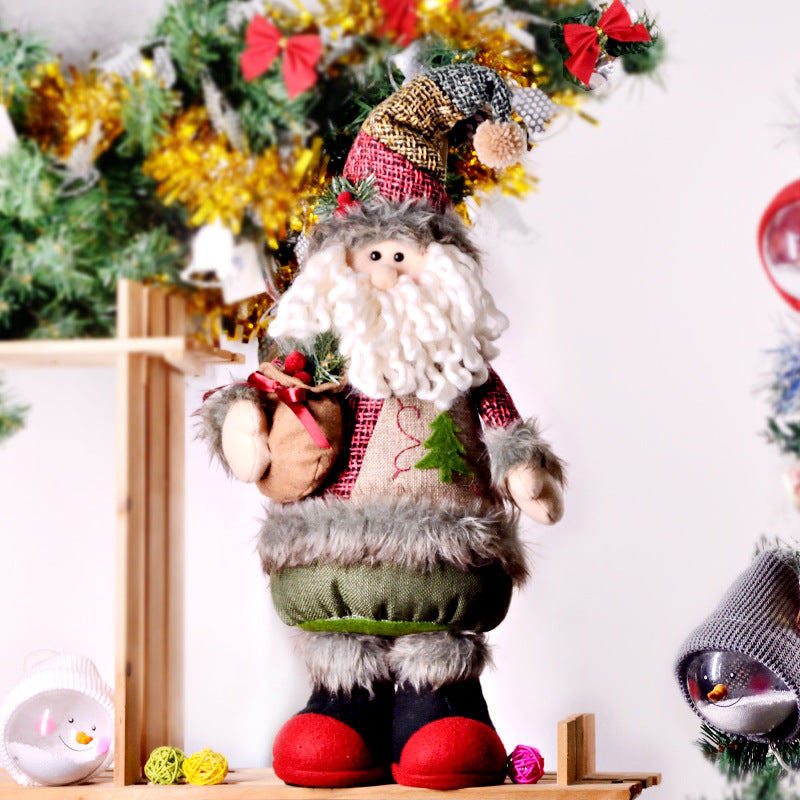 C| Chicloth Christmas Ornaments Standing Santa Claus Doll-Christmas Accessories-Chicloth