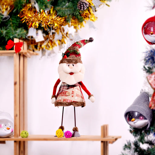 C| Chicloth Handmade Standing Figurine Santa Snowman Plush Doll-Christmas Accessories-Chicloth