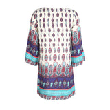 Chicloth Loose style Printed Shift Dress