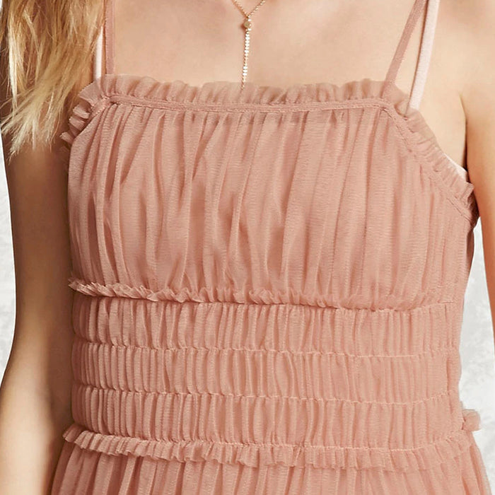 Chicloth Harness Pink A-Line Dress-Chicloth