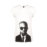 Chicloth Cool Boyfriend Printed Simple White T-shirt