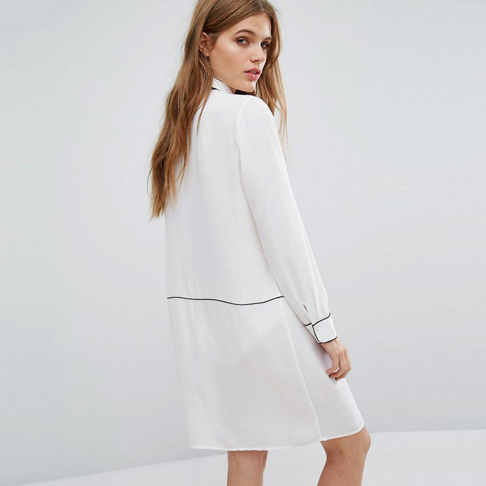 Chicloth Long Sleeve T-Shirt Summer Dress-Chicloth