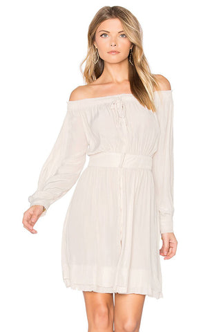 Chicloth Off the shoulder style White Dress-Chicloth